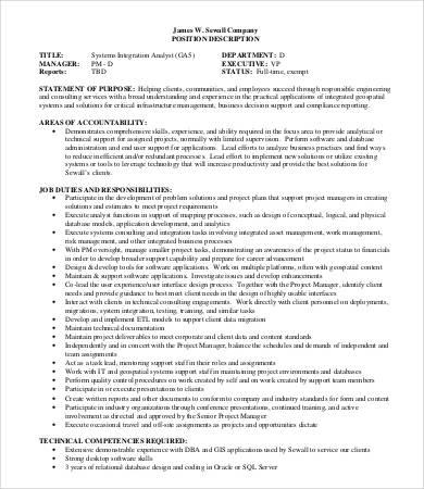 Elegant ... System Analyst Job Description   9+ Free PDF, Word Documents   System  Analyst Job ...