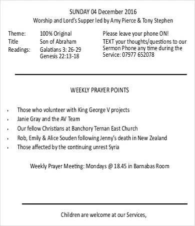 Church Bulletin Template - 12+ Free PDF, PSD Format Download Free
