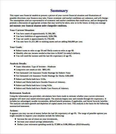 Financial Plan Template - 10+ PDF, Word, Google Docs, Documents