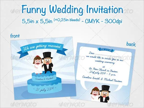 9+ Funny Wedding Invitations - Free PSD, Vector EPS, PNG Format