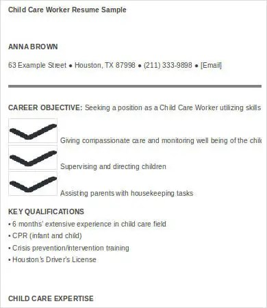Child Care Resume - 6+ Free Word, PDF Documents Download Free - child care resume