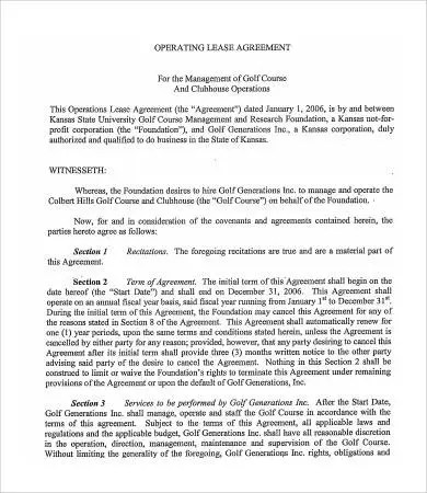 Sample Operating Agreement - 8+ Free PDF Documents Download Free