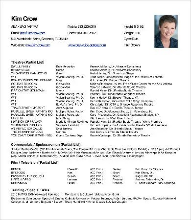 theatre resume - Onwebioinnovate - theatre resume