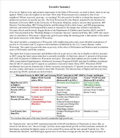 Executive Summary Sample - 9+ Free PDF, Word Documents Download - one page executive summary template