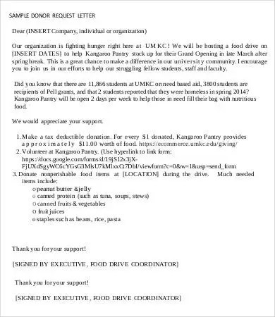 Sample Donation Request Letter - 7+ Free PDF, Word Documents