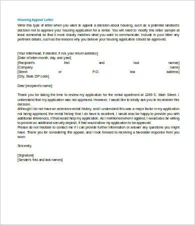 Appeal Letter - 8+ Free Sample, Example, Format Free  Premium