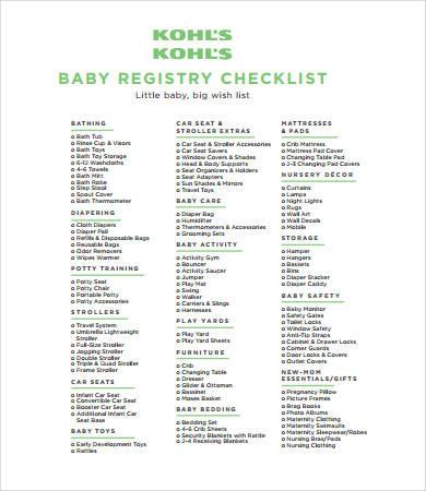 New Baby Checklist - 8+ Free PDF Documents Download Free  Premium