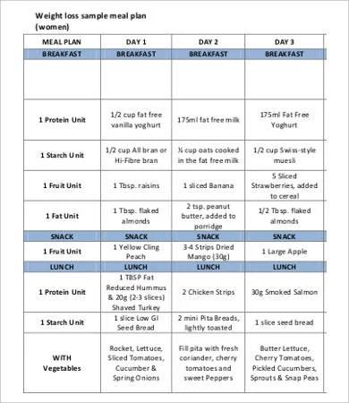 28+ Meal Plan Templates Free  Premium Templates