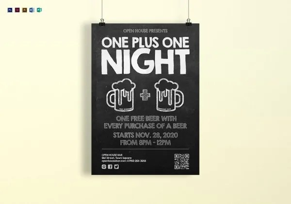 22+ Beautiful Chalkboard Posters Free  Premium Templates