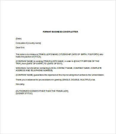 Business Letter Template Word - 7+ Free Word Documents Download