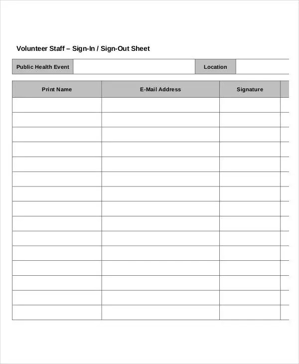 event sign in sheet template 45 Event sign in sheet template – Signature Sheet Template