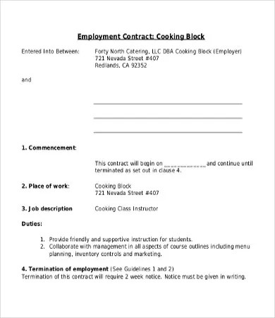 Employee Contract Template - 17+ Free Word, PDF Documents Download