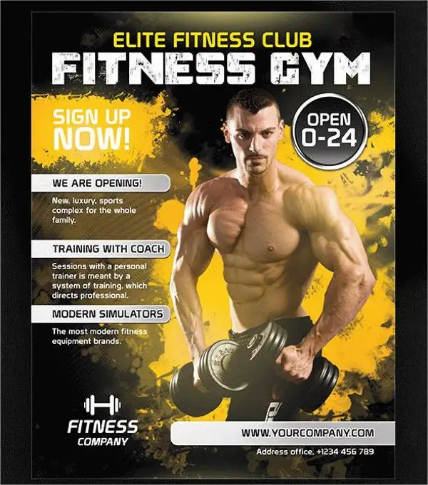 Fitness Flyers - 8+ Free PSD, Vector AI, EPS Format Download Free - fitness flyer