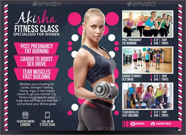 Fitness Flyers - 8+ Free PSD, Vector AI, EPS Format Download - fitness flyer