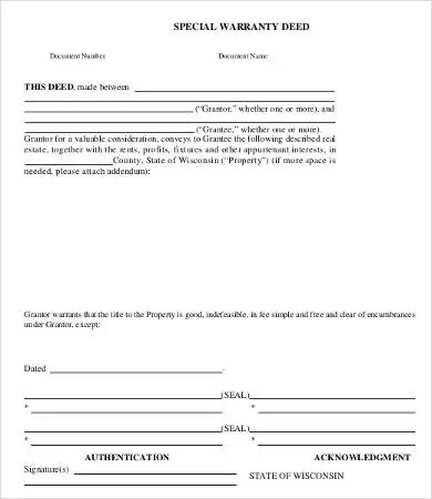 Warranty Deed Form - 10+ Free Word, PDF Documents Download Free