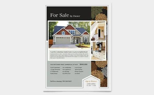 home for sale by owner flyer template - Minimfagency