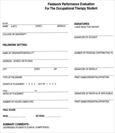Performance Evaluation Form - 10+ Free Word, PDF Documents Download - student evaluation forms