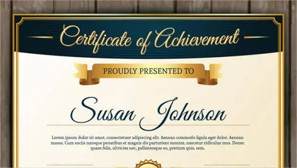 Certificate Of Achievement Template - 10+ PDF, Word, AI, InDesign