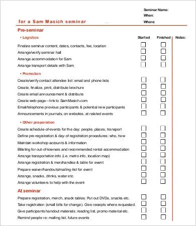 Event Checklist Template Meeting Checklist Template Images - free event planner template