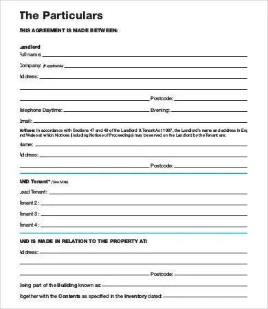 Tenancy Agreement Template - 17+ Free Word, PDF Documents Download