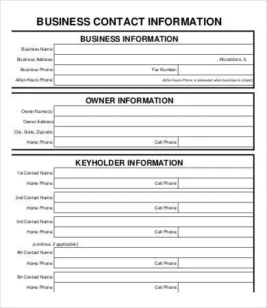 Business Form Template - 9+ Free PDF Documents Download Free