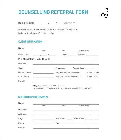referral forms examples - Onwebioinnovate