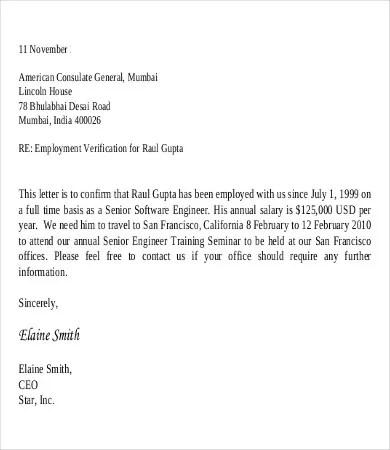 letter of employment with salary - Onwebioinnovate - sample income verification letter