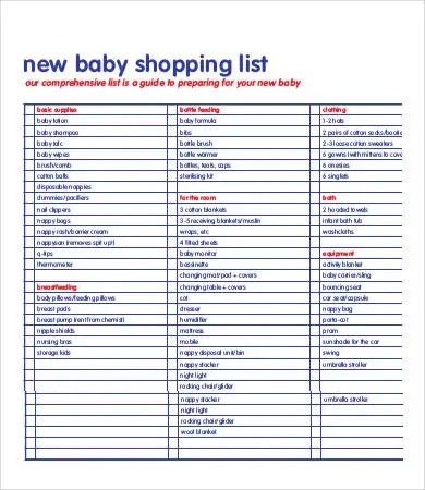 Printable Shopping List Template - 9+ Free Word, Excel, PDF