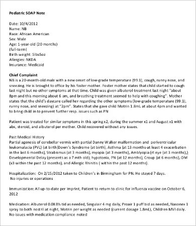 SOAP Note Template - 10+ Free Word, PDF Documents Download Free - soap note