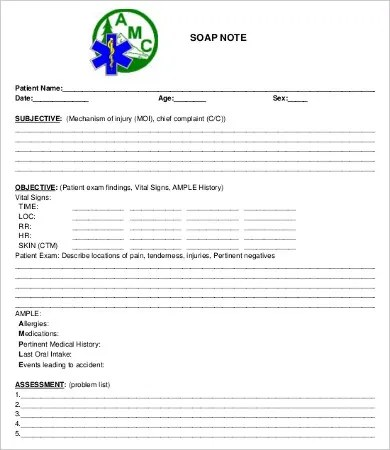 SOAP Note Template - 10+ Free Word, PDF Documents Download Free - soap note template