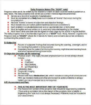 SOAP Note Template - 10+ Free Word, PDF Documents Download Free - physical exam template