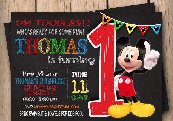 micky mouse invitations