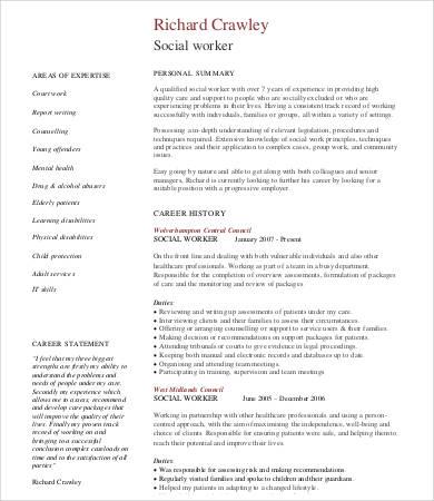 10+ Social Work Resume Templates - PDF, DOC Free  Premium Templates - work resume template