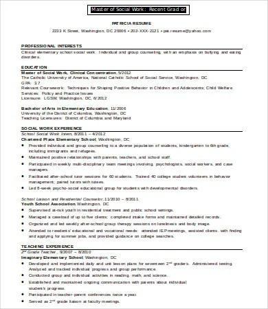 10+ Social Work Resume Templates - PDF, DOC Free  Premium Templates - social worker resumes