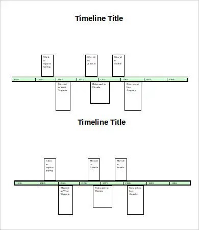 word template timeline