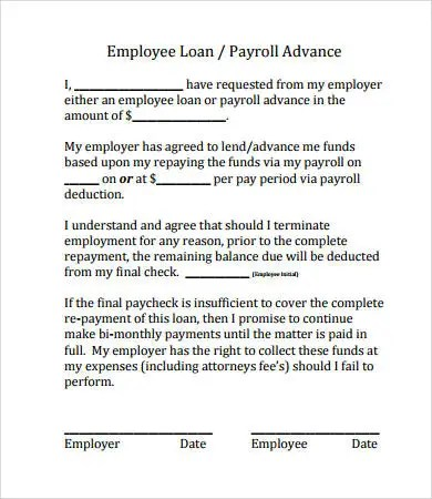 employee loan agreement - Boatjeremyeaton - Loan Document Template