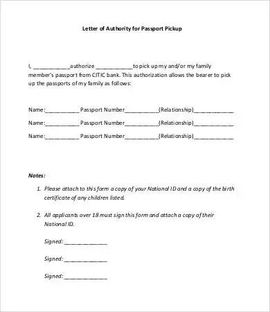 Letter Of Authorization - 11+ Free Word, PDF Documents Download - passport authorization letter