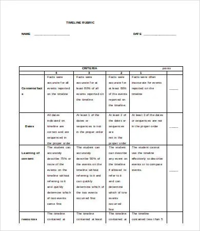 Timeline Word Template - 5+ Free Word Documents Download Free - timeline template word