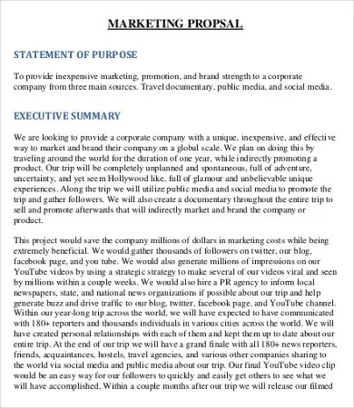 Marketing Proposal Templates Node2003 Cvresumeasprovider