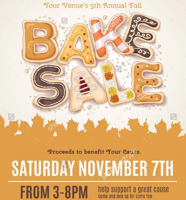 bake sale flyer template word