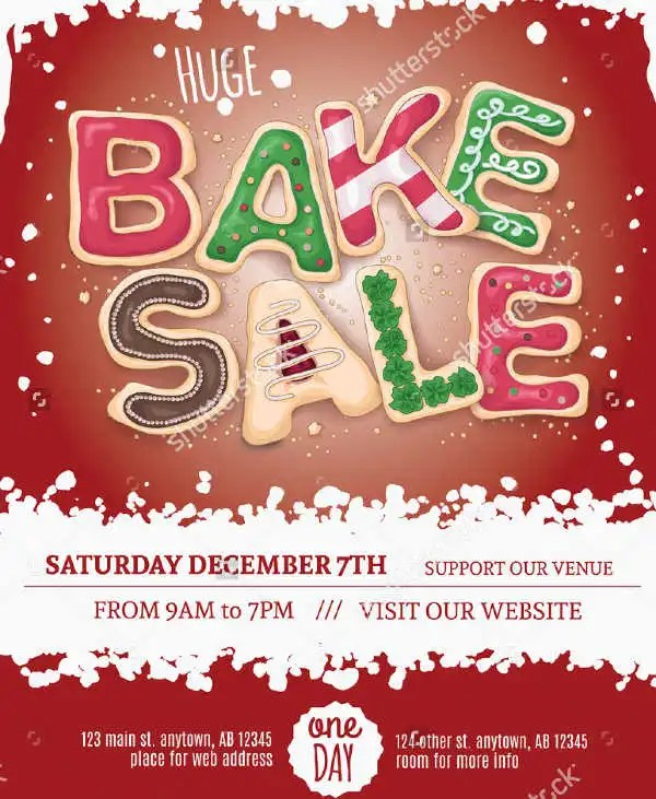 14+ Sample Bake Sale Flyer Templates - PSD, AI, Word Free