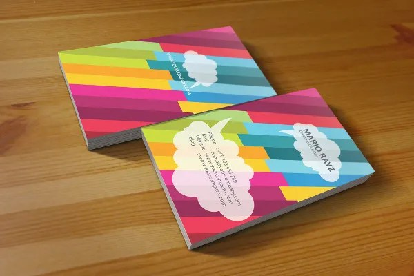 19+ Examples of Colorful Business Cards Free  Premium Templates