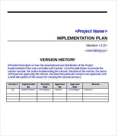 Project Plan Template Word - 6+ Free Word Documents Download - implementation plan templates
