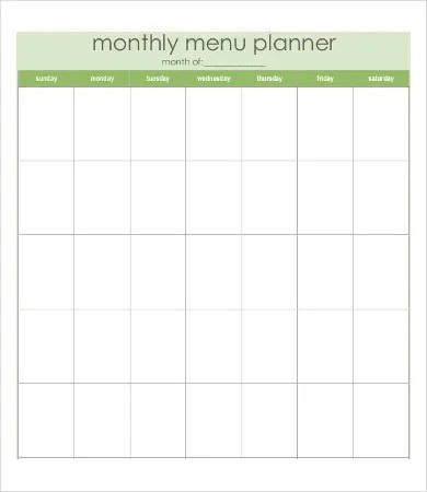 Blank Monthly Calendar - 6+ Free Word, PDF Documents Download Free
