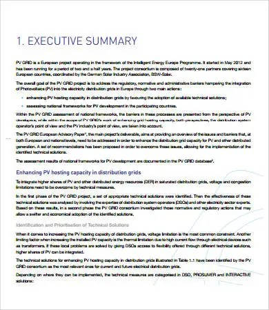 Project Report Format - 11+ Free PDF Documents Download Free - executive summary format for project report