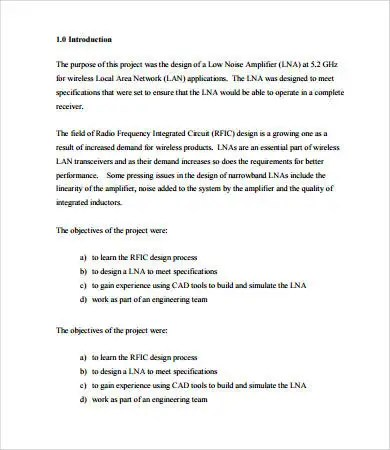 Project Report Format - 16+ Free PDF Documents Download Free