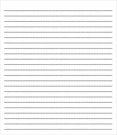 College Ruled Paper Template - 6+ Free PDF Documents Download Free - line paper template