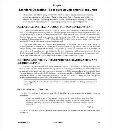 8+ Standard Operating Procedure Templates - PDF, DOC Free