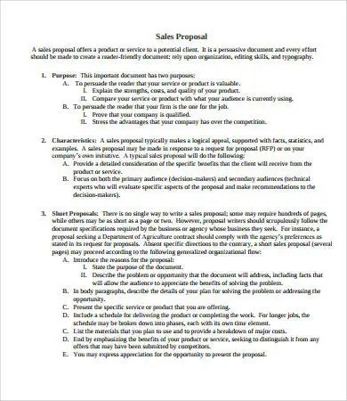 Sales Proposal - 10+ Free PDF, Word Documents Download Free