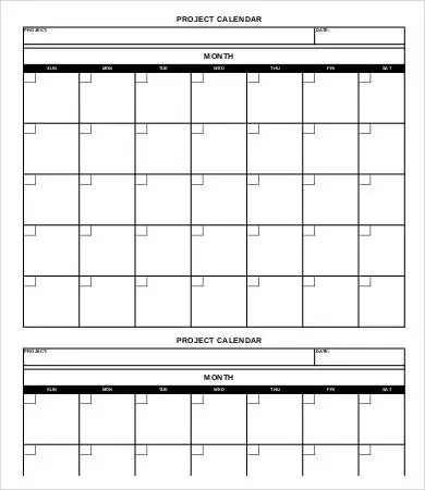 Project Calendar Template - 10+ Free Word, PDF Documents Download - blank template calendar